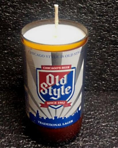 Old Style ManCrafted Beer Bottle Scented Soy Candles for mancave