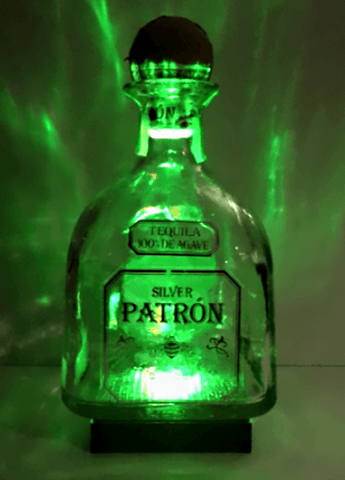 Liquor Bottle LED Display Home Bar Mancave Centerpiece Repurpose ManCrafted