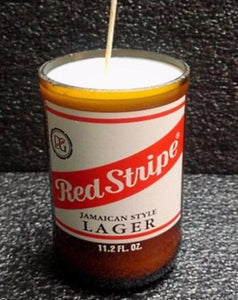 Red Stripe ManCrafted Beer Bottle Scented Soy Candles for mancave