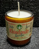 Rhinelander Shorty Beer Bottle Scented Soy Candle ManCrafted