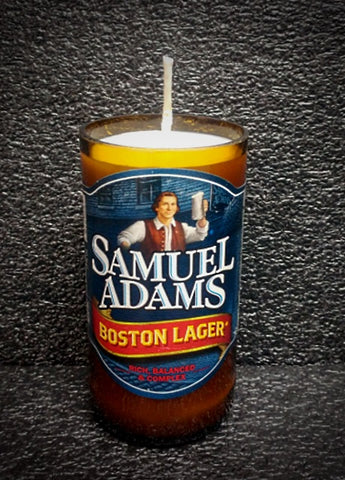 Samuel Adams ManCrafted Beer Bottle Scented Soy Candles for mancave