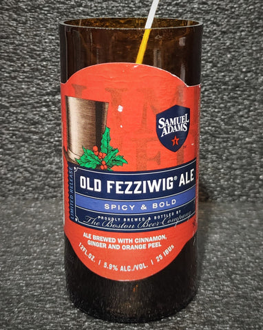 Samuel Adams Old Fezziwig Ale Beer Bottle Scented Soy Candle