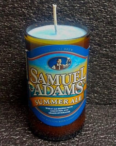 Sam Adams Summer Ale ManCrafted Beer Bottle Scented Soy Candles for mancave