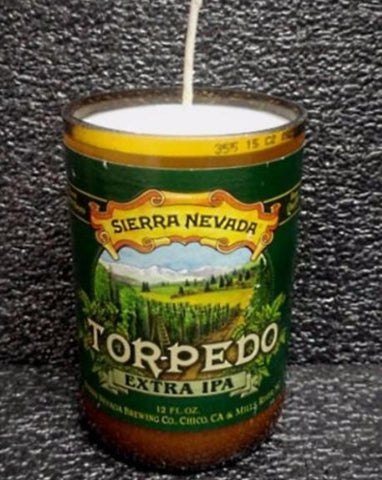 Sierra Nevada Torpedo ManCrafted Beer Bottle Scented Soy Candles for mancave