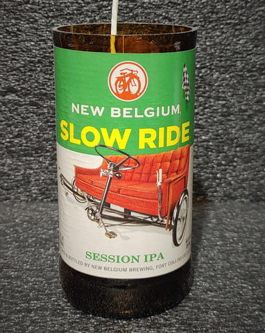 New Belgium Slow Ride Beer Bottle Scented Soy Candle