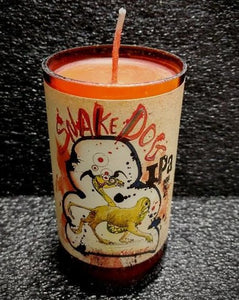 Snake Dog IPA beer bottle scented soy candle