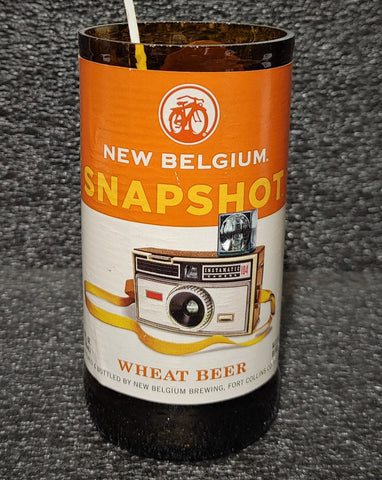 New Belgium Snapshot Beer Bottle Scented Soy Candle