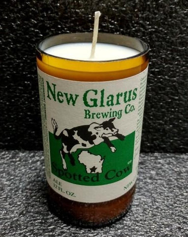 Spotted Cow New Glarus Beer Bottle Scented Soy Candle