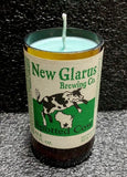 Wisconsin Spotted Cow New Glarus Beer Bottle Scented Soy Candle
