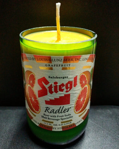 Stiegl Radler Grapefruit Beer bottle scented soy candle