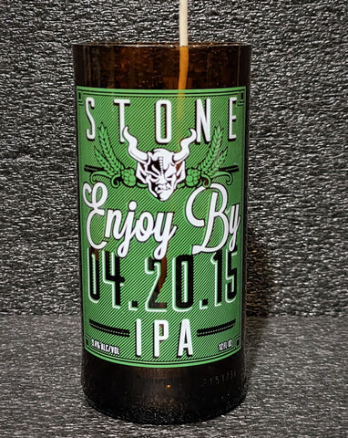 Stone IPA Beer Bottle Scented Soy Candle
