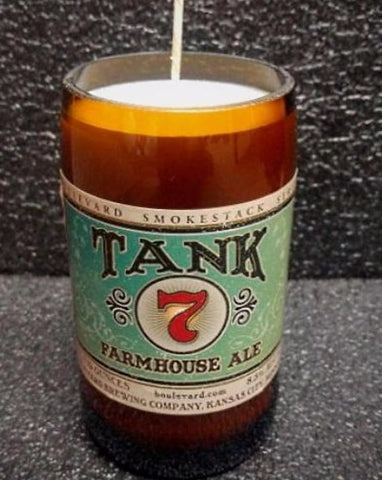 Tank 7 Farmhouse ManCrafted Beer Bottle Scented Soy Candles for mancave