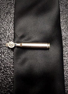 Nickel Brass .223 Rifle AR15 Bullet Tie Clip