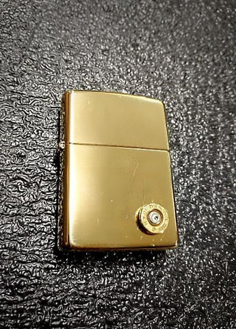 Authentic Zippo Brass Lighter 9mm bullet casing