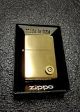 Authentic Zippo Brass Lighter 9mm bullet casing shell