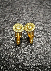Brass 9mm Bullet Cufflink Pair Ammo
