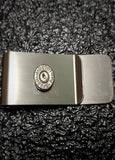 Nickel Brass 9mm Bullet Casing Money Clip