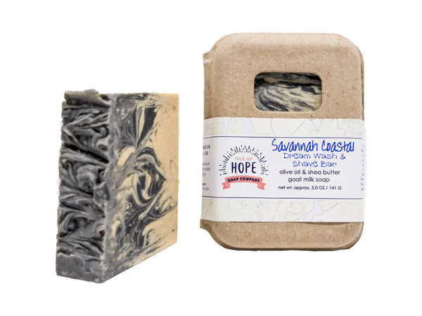 Savannah Coastal Dream Wash & Shave Bar- Cedarwood, Tea Tree, Eucalyptus & Peppermint