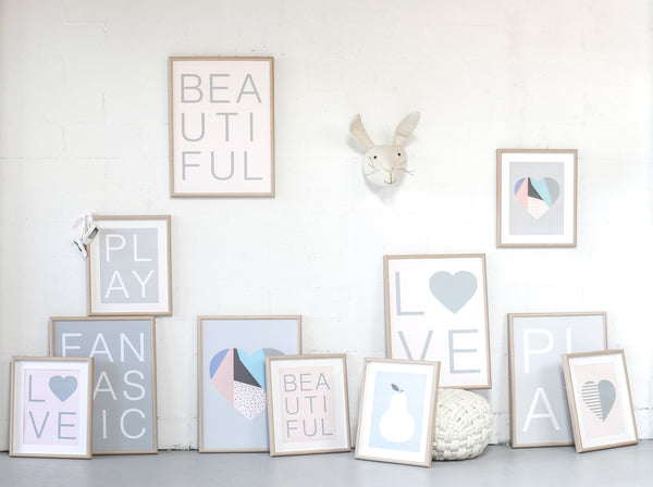 'SCANDI HEART' Print by Sprout and Sparrow