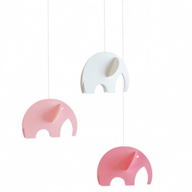 Olephants mobile (pink) by Flensted