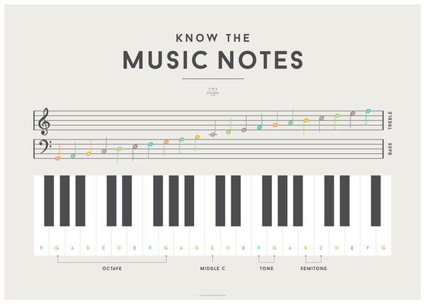 'MUSIC NOTES' by Squared Charts