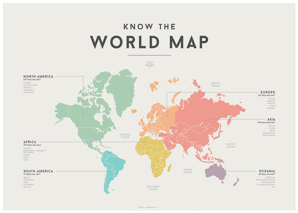 'WORLD MAP' by Squared Charts