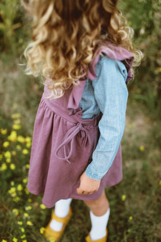 Pinafore Suspender Skirt Plum