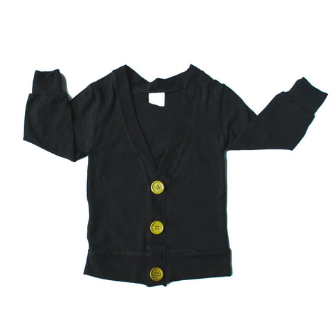 Everyday Cardigan Midnight Black