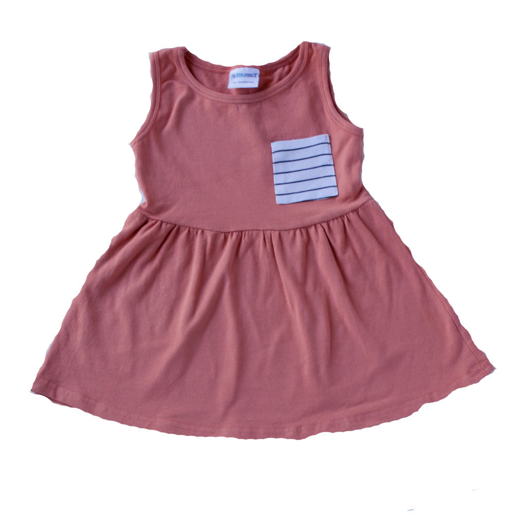Pocket Tank Dress Dusty Rose