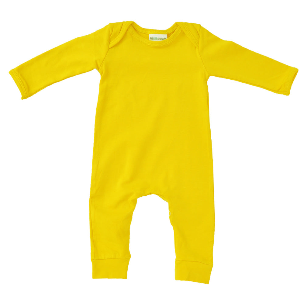 Romper Long Sleeve Bright Yellow stripe