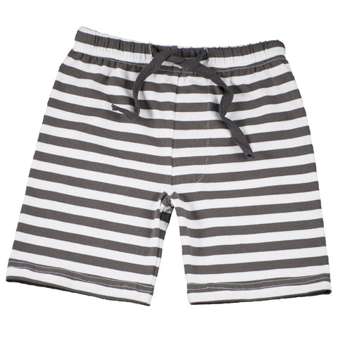 Charcoal Stripe Jogger Shorts