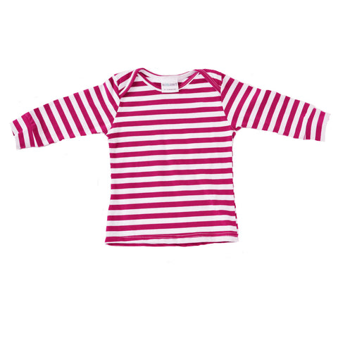 Everyday Basic Tee Berry and white Striped