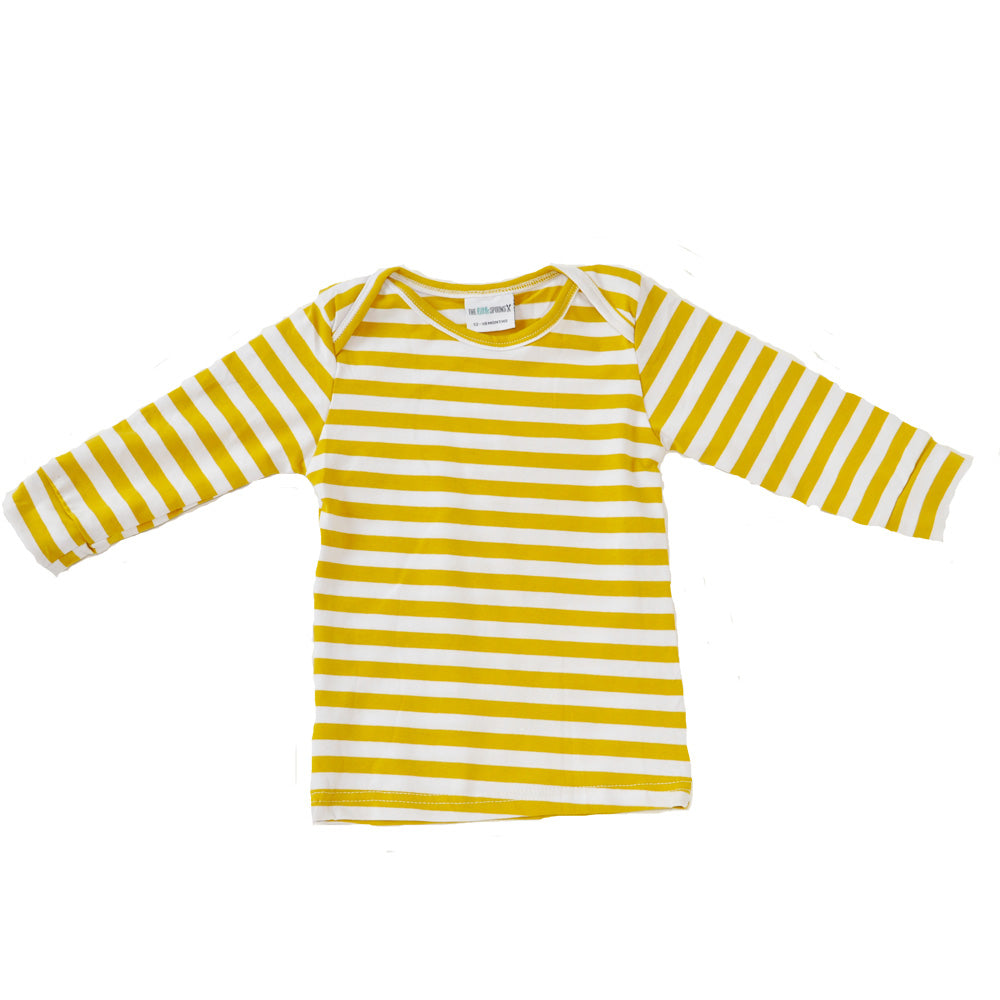Everyday Basic Tee Mustard and white Striped