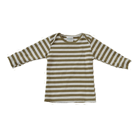 Everyday Basic Tee Mushroom and white Striped