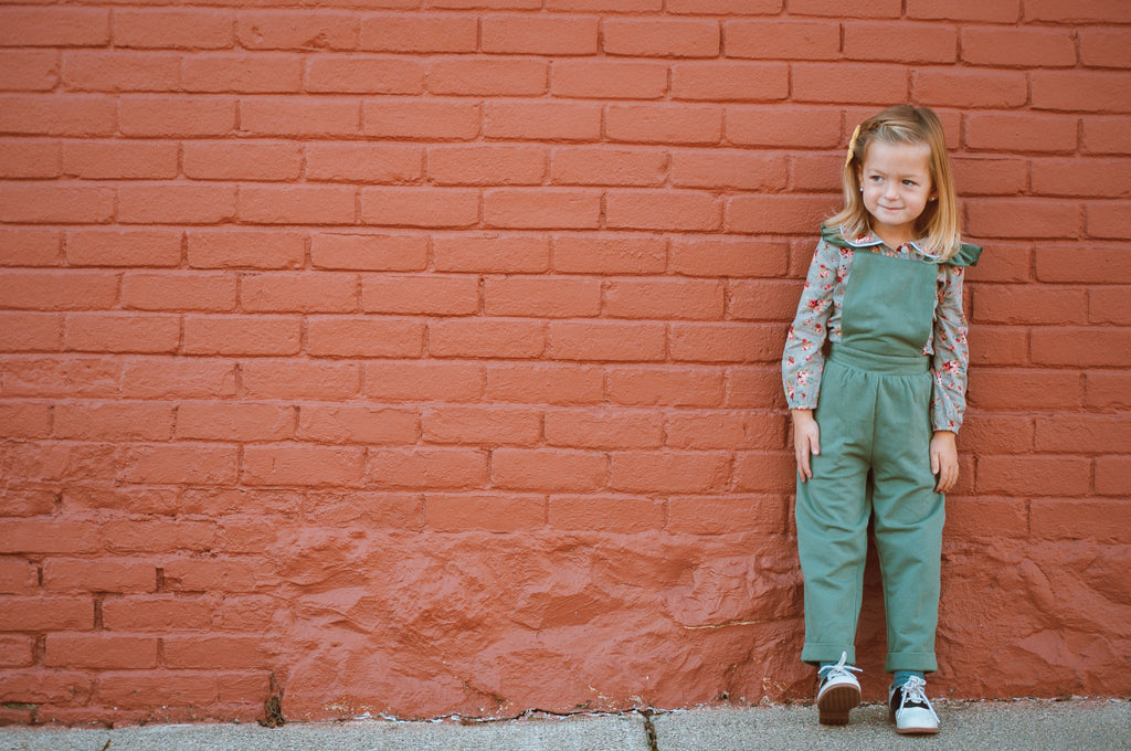 Overall Jumper in Pine