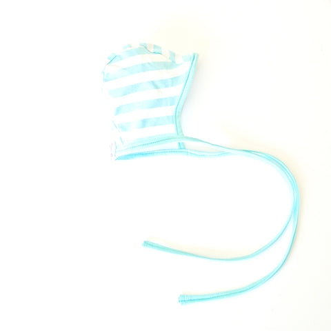 Baby Bonnet Island Blue stripes