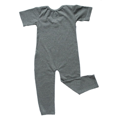 Leotard Romper Charcoal Heather Gray