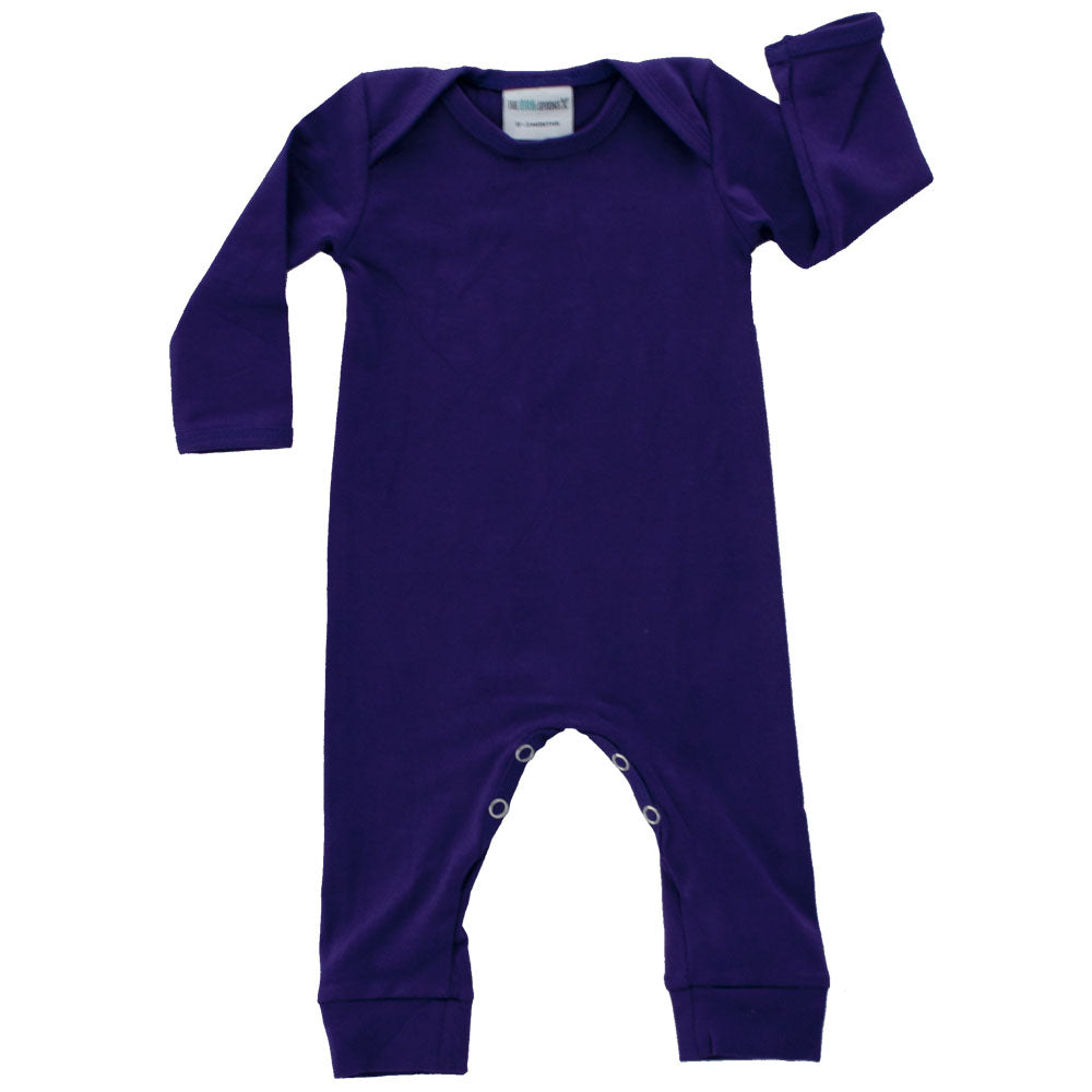 Long Sleeve Romper Grape