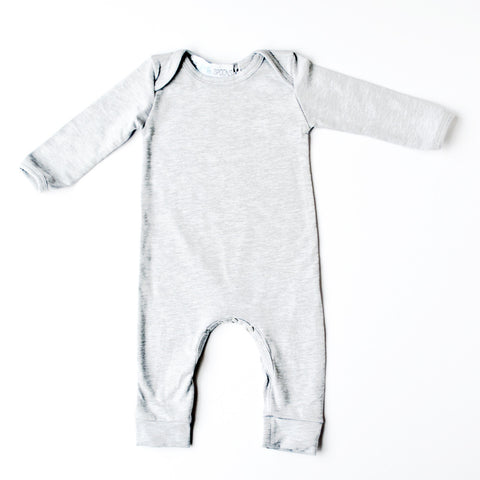 Romper Long Sleeve Heather Gray