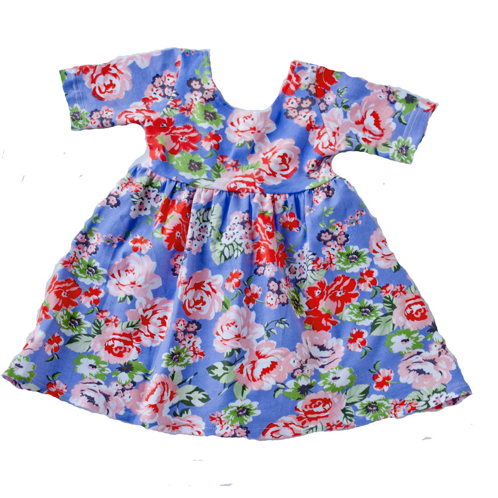 Swing Dress Periwinkle Floral