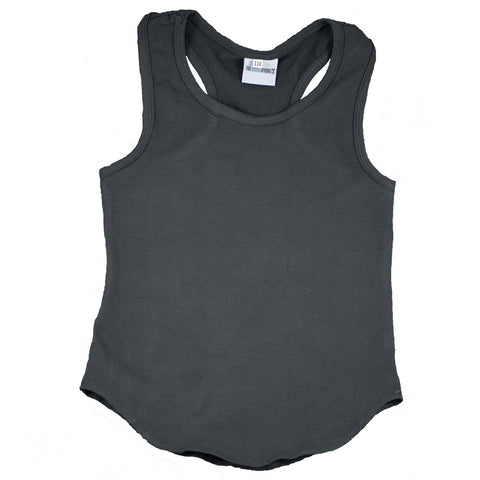 Racer Tank Top Charcoal