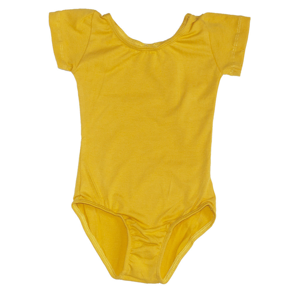 Leotard Short Sleeve Sunshine Yellow