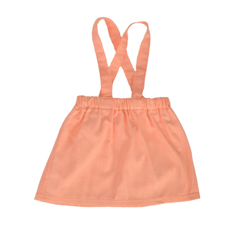 Suspender Skirt Sweetheart Pink in Linen