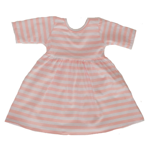 Swing Dress in Sweetheart Pink stripe