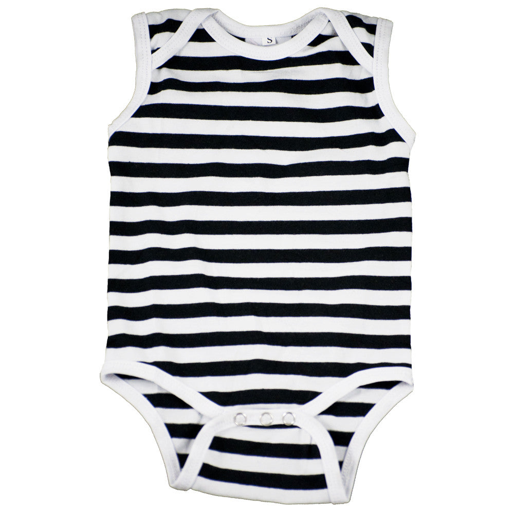Tank Onesie Black and white stripe