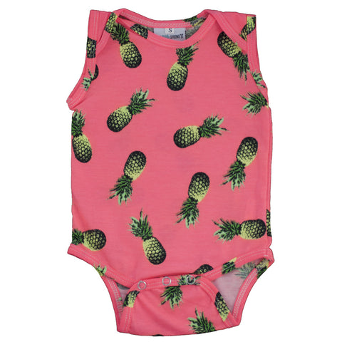 Tank Onesie Bright Pineapples
