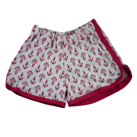 Red Anchors Track Shorts