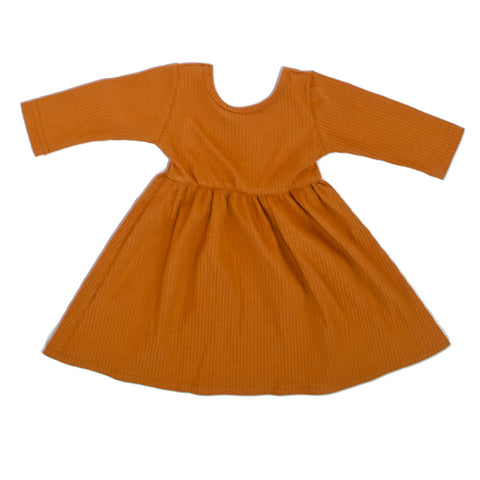 Swing Dress Pumpkin Spice Ribbed