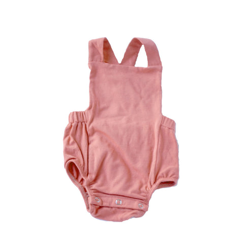Dusty Rose Overall Sunsuit