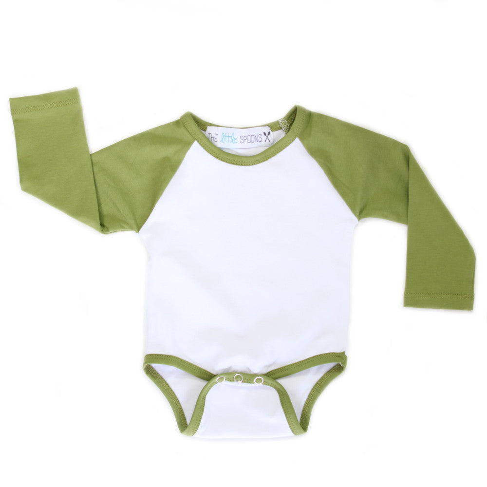 Home Run Tee Olive Green Onesie